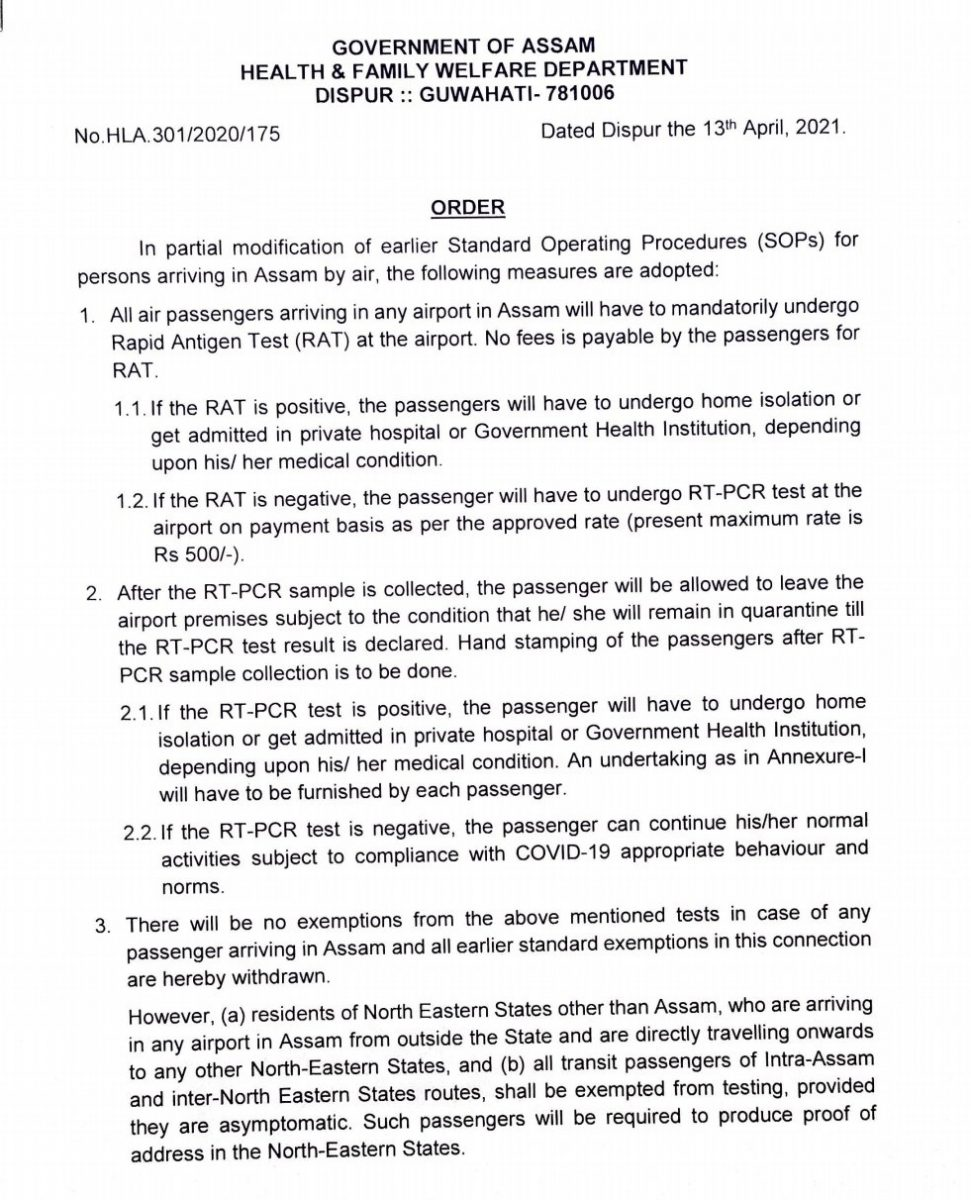 Second wave of COVID-19: Air travellers to undergo mandatory testing in all Assam airports upon arrival 5