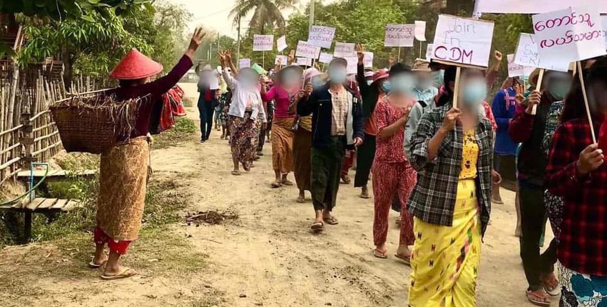 Myanmar anti-coup demonstrations: Protestors launch 'Blood Strike' 10