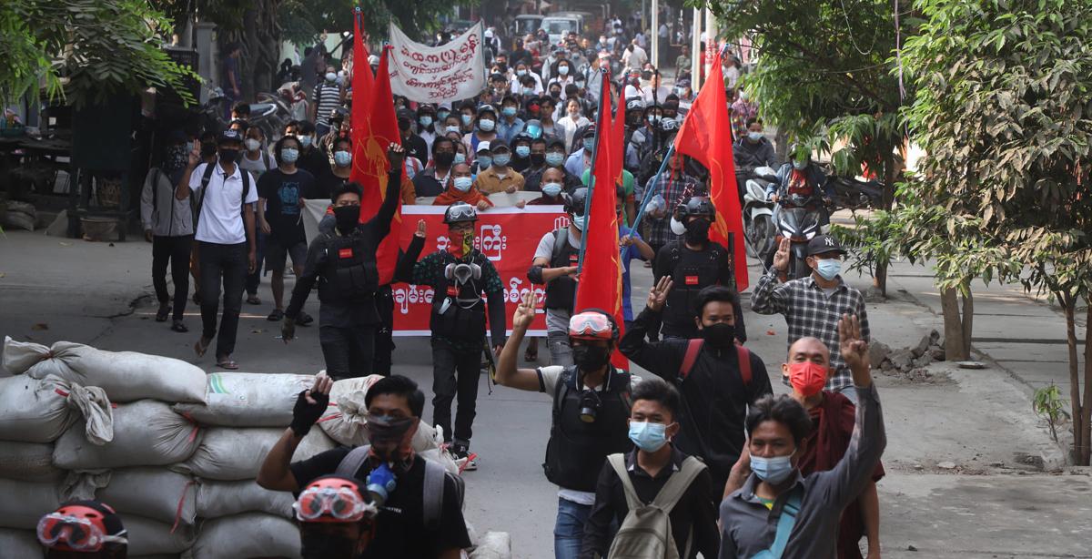 Myanmar anti-coup demonstrations: Protestors launch 'Blood Strike' 6
