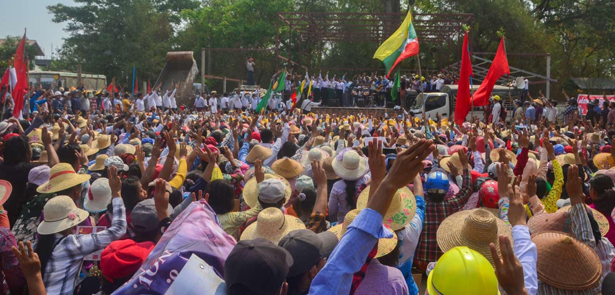 Myanmar anti-coup demonstrations: Protestors launch 'Blood Strike' 9