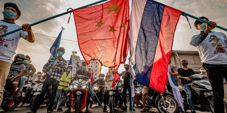Myanmar crisis: Mandalay University students burn flags of Russia and China during anti-coup protest 1