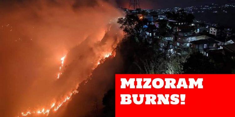 Wildfire in Mizoram's Lunglei rages on, PM Modi speaks to CM Zoramthanga 1