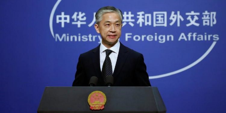 Chinese foreign ministry spokesperson Wang Wenbin.