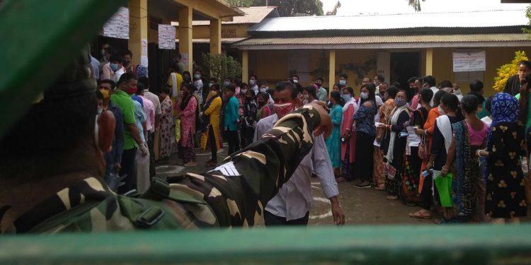 Voting Hengrabari LP Schooling polling station