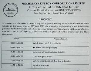 Meghalaya power department