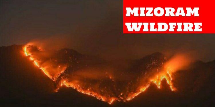 Massive wildfire in Mizoram's Lunglei district, IAF choppers pressed into service 1
