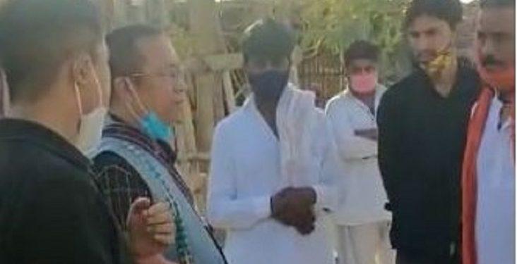 Mizoram Rajya Sabha member K.Vanlalvena visited Pakistan Hindu refugees in Jahangirpuri colony.