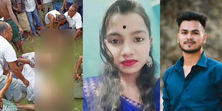The three youths (left) and (right) the sister-brother duo who drowned in river in Biswanath district