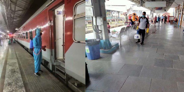 Disinfection measures in railway coaches, premises