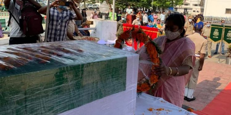 CRPF jawan Shambhu Roy's mortal remains reach home village in Tripura 1