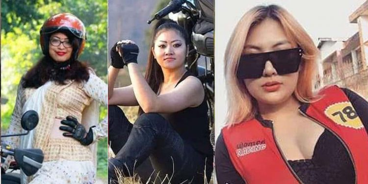 Female bikers from Northeast