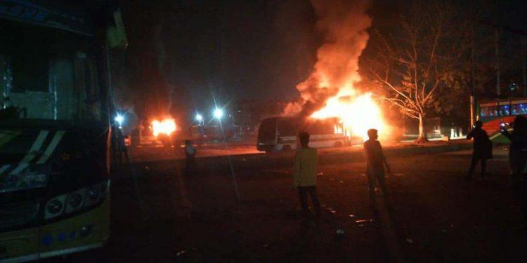 fire at ISBT Guwahati
