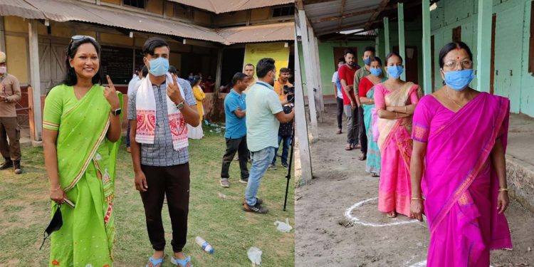 polling station in Assam Assembly election voting
