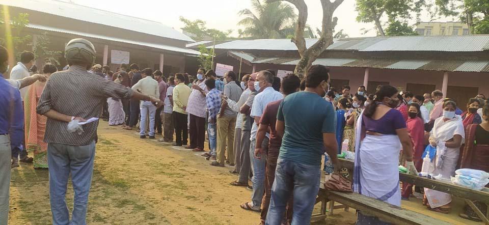 polling station at Bagharbari