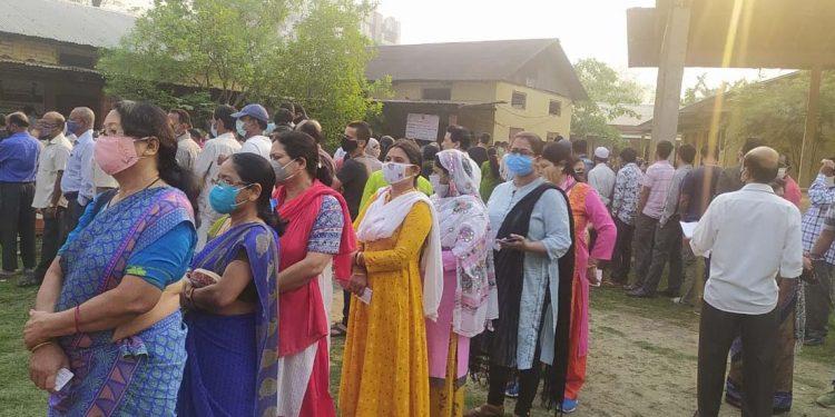 voting in Guwahati on April 6, 2021
