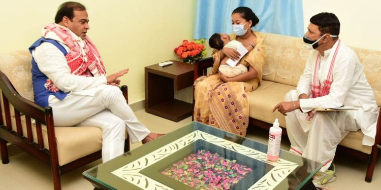 Chief minister Sarma on Thursday met the wife and younger brother of abducted ONGC employee Ritul Saikia at Majuli circuit house.