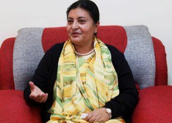 Nepal president Bidya Devi Bhandari.