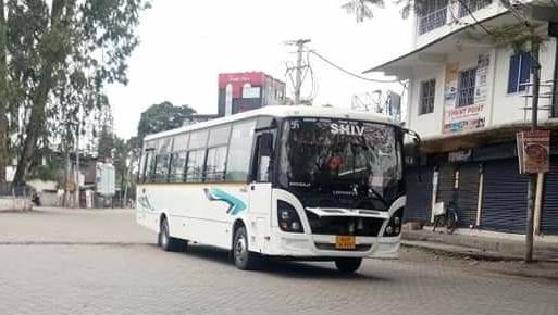 Assam: Covid-19 restrictions hits bus operators in Lakhimpur 1