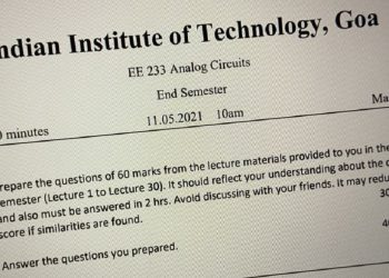 Prepare your own questions, answer them: IIT-Goa asks students 1
