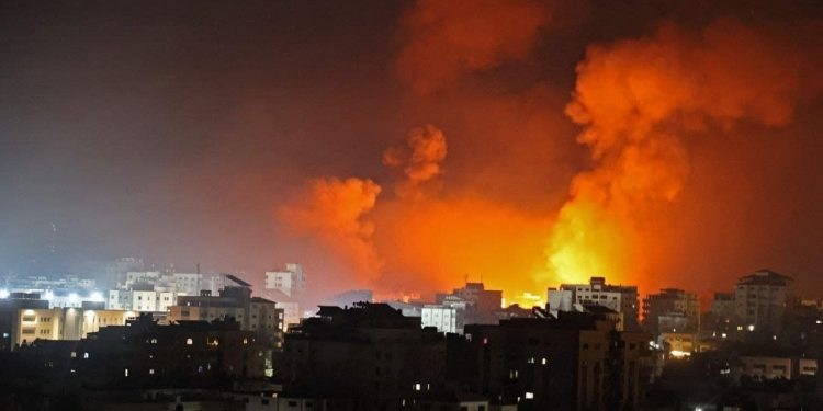 Israel air strikes knock down Hamas chief's home as conflict enters seventh day, three Palestinians killed 1