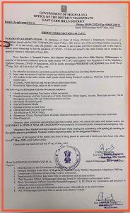 Covid19: Weekend lockdown in Meghalaya's East Garo Hills from May 7 4