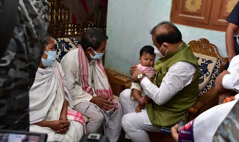 Assam CM Himanta Biswa Sarma visits abducted ONGC employee Ritul Saikia's residence 1