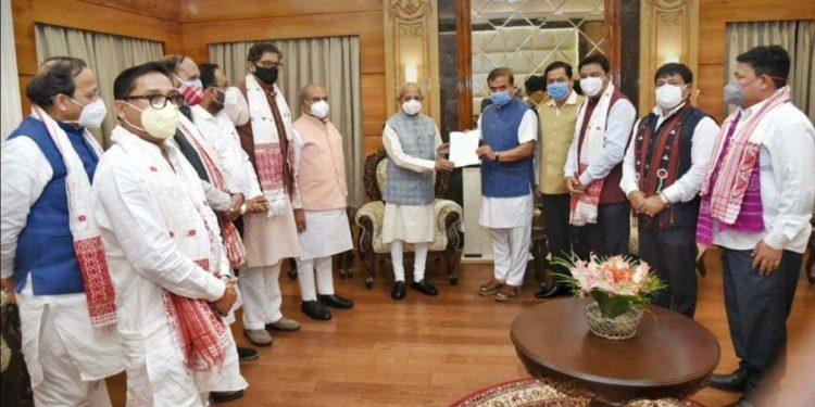 Himanta Biswa Sarma with Assam Governor