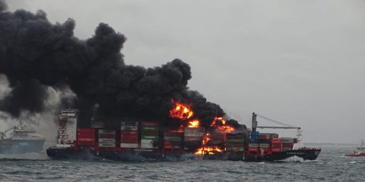 Ship on fire: Indian Coast Guard jumps into firefighting operation 1