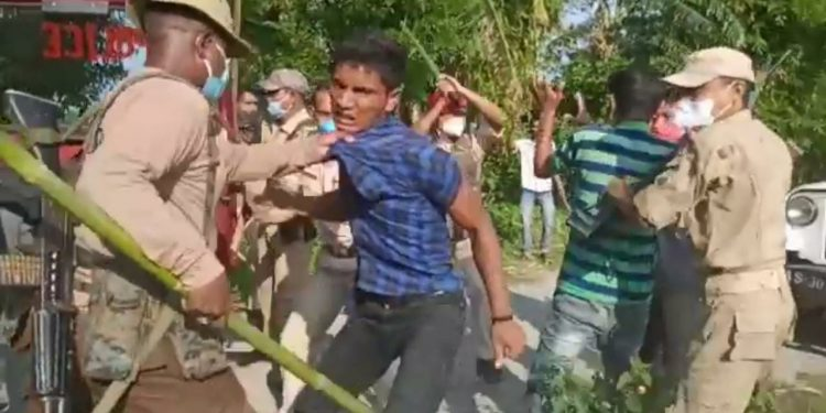 The villagers also allegedly attacked the police team when it tried to rescue the victim.