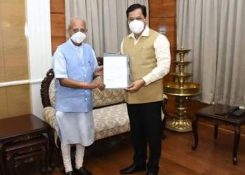 Chief Minister Sonowal and his entire council of ministers have tendered their resignations to Assam Governor Jagadish Mukhi.