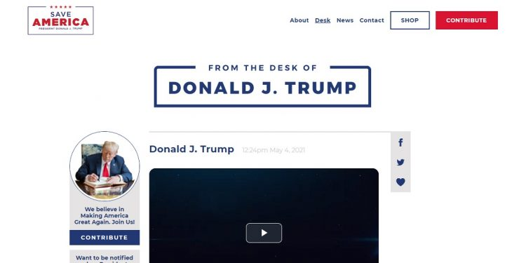 Banned by Twitter, former US president Donald Trump launches his own 'blog' 1