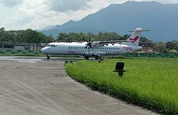 A flight of the private airliner Flybig started the direct flight services from Guwahati to Pasighat under the RCS-UDAN scheme.