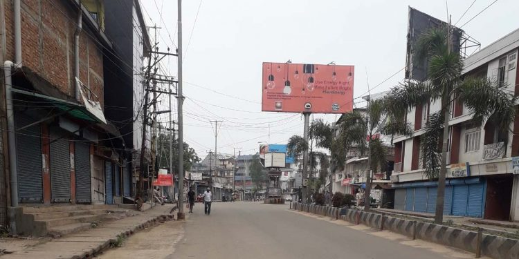 Dimapur lockdown Dimapur bandh Dimapur road