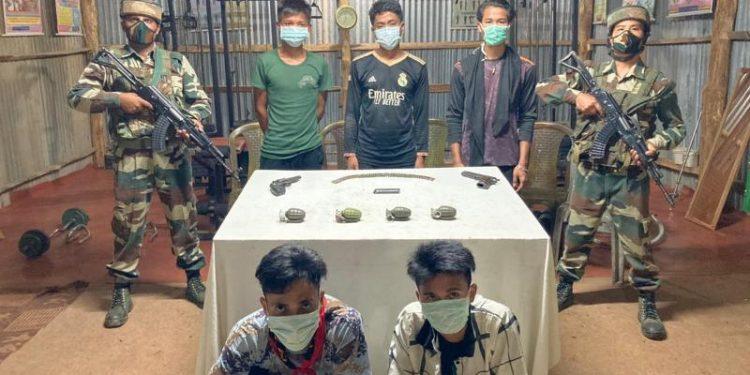 Five cadre of Myanmar's outfit Arakan Liberation Party cadre held in Mizoram 1