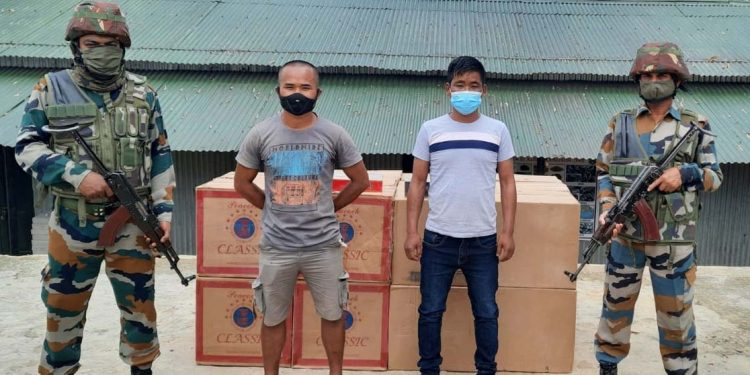 Assam Rifles seizes foreign origin cigarettes