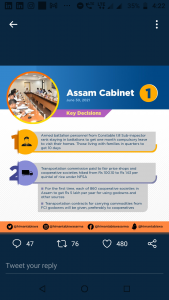 Assam Cabinet: Armed battalion personnel up to SI rank to get 1 month compulsory leave to visit homes 3