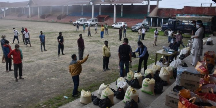 DC Kohima launched relief distribution at Kohima.