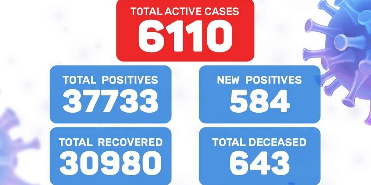 Meghalaya reports 18 more COVID-19 deaths, 584 new positive cases 1