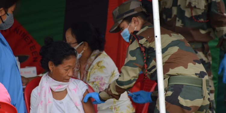 Arunachal Pradesh: COVID-19 vaccination camp organised by Assam Rifles in Changlang 1