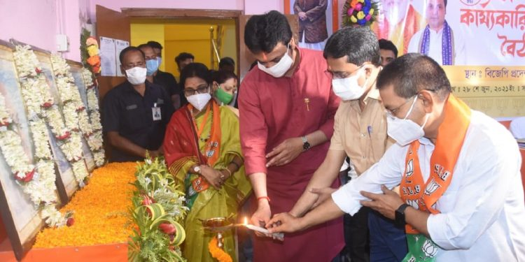 Day-long 'Karyakarini Baithak' of Tripura BJP underway 1