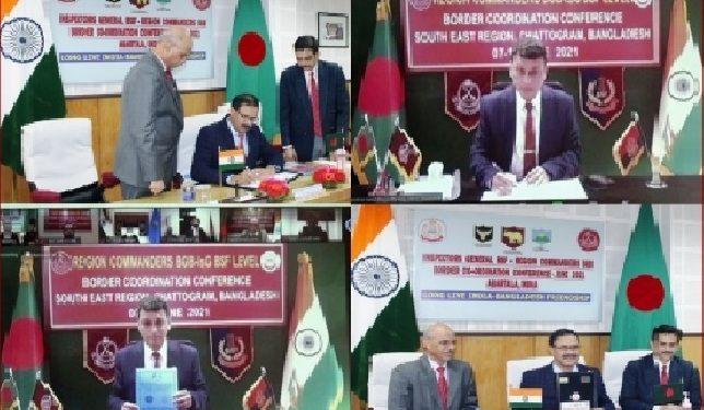 The security forces of both the countries discussed multiple issues relating to the Indo-Bangla border in a regional biannual border co-ordination conference (BCC)