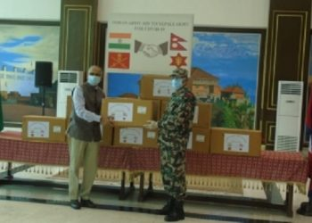 India provides medical equipment to Nepali Army 2