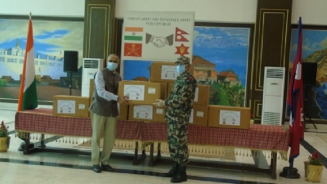 India provides medical equipment to Nepali Army 1