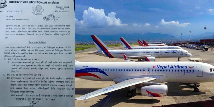 Nepal resumes international and domestic flight operations after two months 1