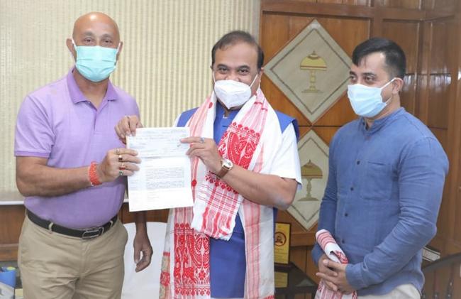 Photo with Assam CM
