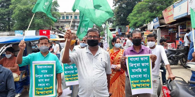 Protest against Tipraland