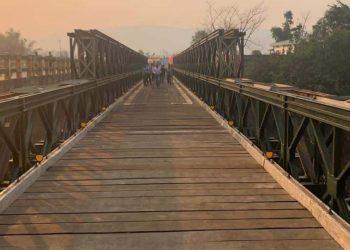 Bailey bridge at Shillong Bye-pass