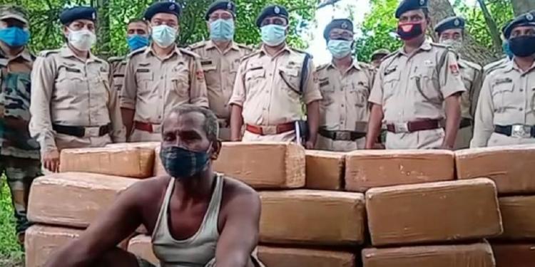 750 kgs of ganja seized in Tripura 1