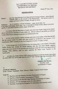 Tripura government asks district administrations to take action against black marketeers of potatoes, onions 2
