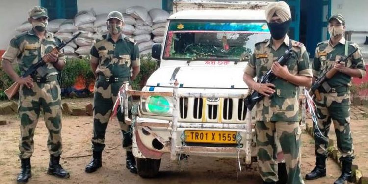 vehicle seized by BSF troops